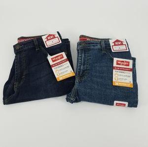 2 Wrangler slim straight Jean's boys size 14